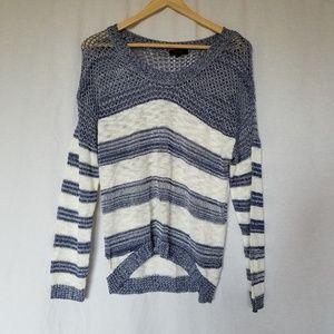 Modcloth Mine crochet striped pullover sweater M.